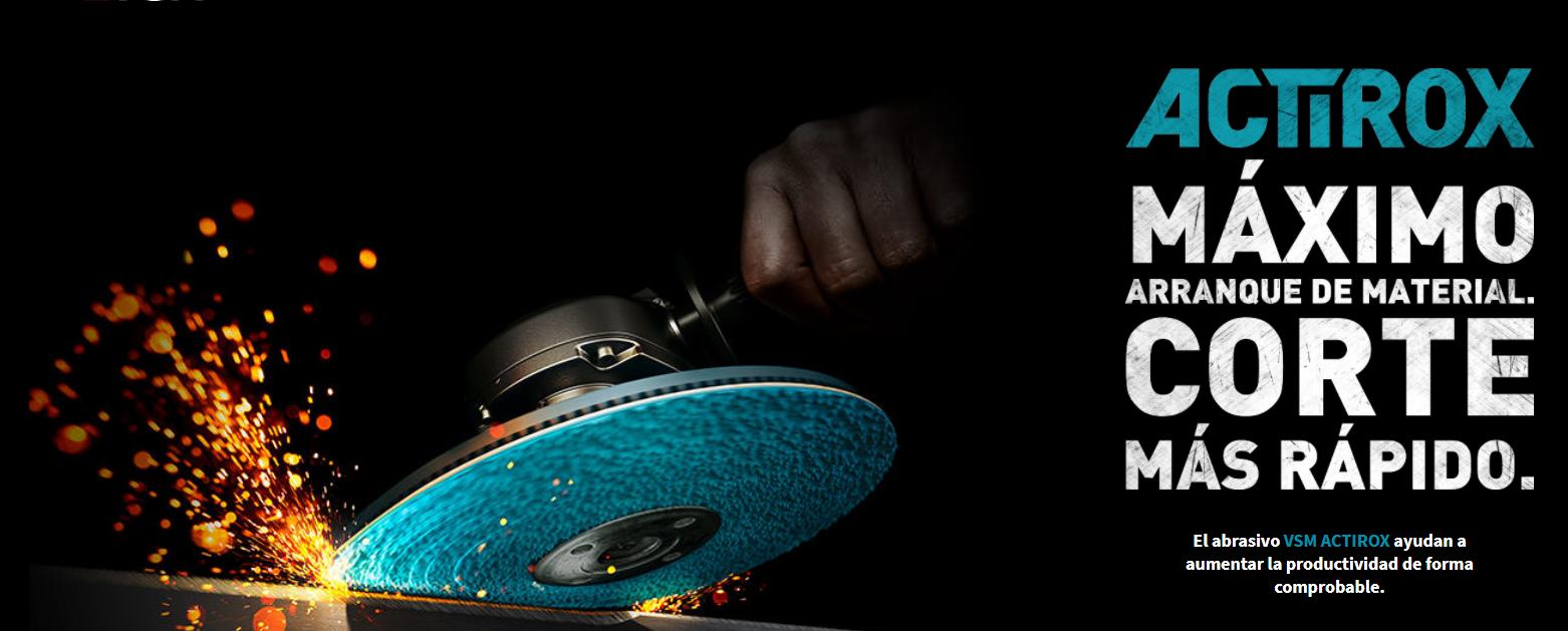 Actirox: Abrasivo de Disco de Fibra