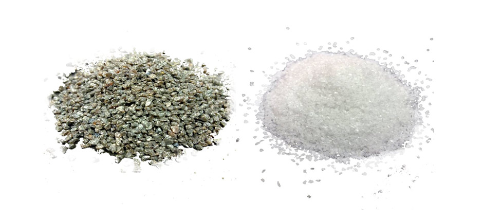coridon oxido de aluminio azul marron y blanco
