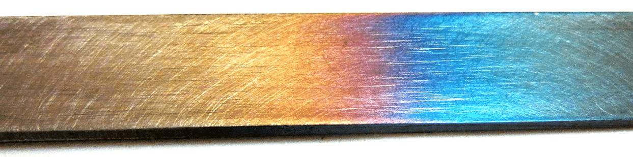 Descoloração de aço inoxidável e discos para evitar descoloração térmica