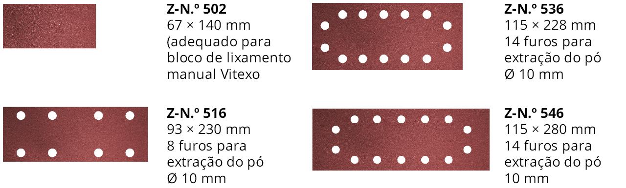 FORMATOS DE FURO PARA CHAPAS