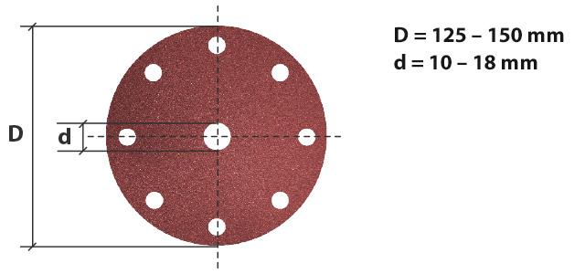 dimensiones discos vsm con soportes de papel y tela